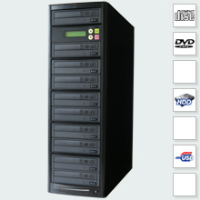 CopyBox 9 DVD Duplicator PC-Connected - 1 to 9 cd dvd duplicator sata connected drives high capacity duplication system